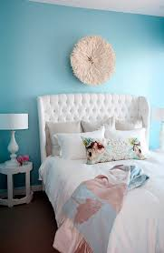white wingback headboard contemporary bedroom the cross