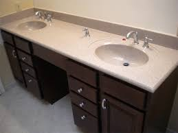 double bathroom vanities with makeup area double bowl bathroom