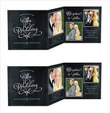 wedding programs exle 21 trifold wedding invitation templates free sle exle