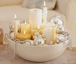 Christmas Table Decoration Ideas Beads by Sparkling Silver Holiday Decor Simple Christmas Table Centers