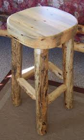 rustic log barstools handcrafted from solid hand peeled pine logs