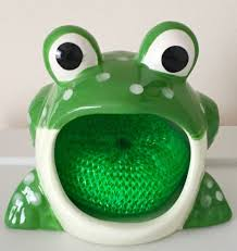 Kitchen Sink Scrubber Holder by Decorative Frog Decor With Sponge Included Just The Right Size To