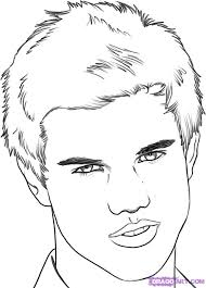 how to draw taylor lautner step by step stars people free