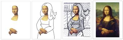 deluxe mona lisa template art projects for kids