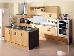 Small Kitchen Flooring Ideas Design Light Wooden Kitchen Cabinet Convertible Range Hood Above