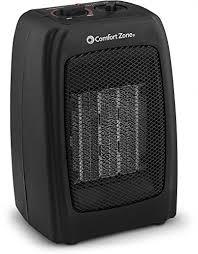 Comfort Zone Heater Fan Ceramic Space Heater Personal Warming Fan With Adjustable