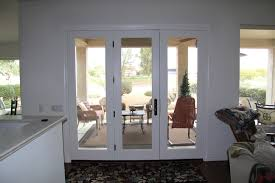 Patio Door With Vented Sidelites by Exterior Single French Doors