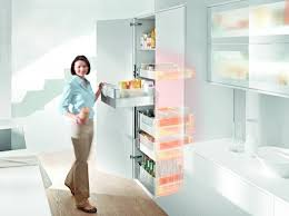 Urban Kitchen Blum - the blum space tower also allows the user to open the door and