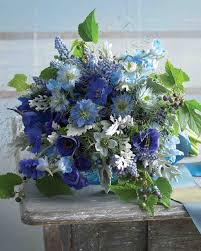 blue wedding bouquets orange wedding bouquets martha stewart weddings