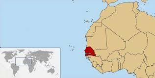 africa map senegal senegal