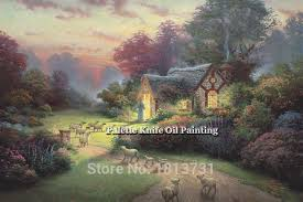 aliexpress buy kinkade paintings garden cottage