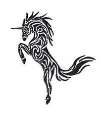 buy fantasy animals iron on patch unicorn tribal tattoo design 2