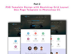 product layout bootstrap psd template design with bootstrap grid layout one page template in