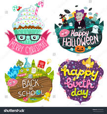 christmas cupcake halloween banner back stock vector