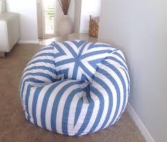 grey bean bag chair bean bag coastal blue and white stripes bean bag cover adults bean
