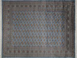 Bokhara Oriental Rugs Elegant Periwinkle Blue 8 U0027x10 U0027 Oriental Bokhara Hand Knotted Wool