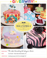 Giveaway Win the cake decorating kit of your choice from Ella