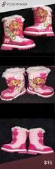 paw patrol pink snow boots size 7 toddler girls keys