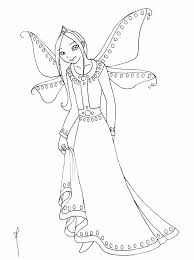 barbie fairy coloring pages kids coloring pages