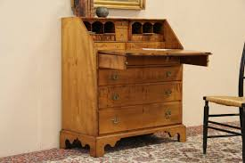 Mid Century Secretary Desk by Sold Federal 1790 Antique Curly Tiger Maple Secretary Desk