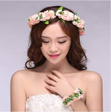 flower for hair aliexpress buy floral flower bridal girl garland wrist