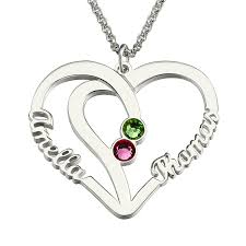 Necklace With Name And Birthstone Compare Prices On Sterling Silver Birthstone Pendant Online