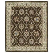 kaleen rugs hand tufted anabelle chocolate trellis wool rug 8 u0027 x