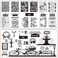 new design 6x12cm stainless nail art stamping plates diy image