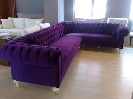 innovative purple velvet sofa with velvet chesterfield sofa living