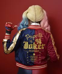 harley quinn squad jacket sci fi design