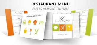 powerpoint restaurant menu template free gavea info