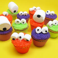 cakes for halloween mini monster cupcakes googly eyes monsters and celebrations