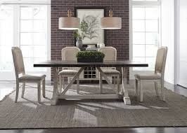 willowrun dining table 5pc set 619 dr weathered gray liberty