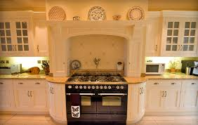 edwardian kitchen ideas range with curved cabinetry faux chimney and mantle around