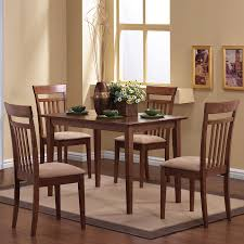 Coaster Dining Room Sets Shop Coaster Fine Furniture Walnut 5 Piece Dining Set With Dining