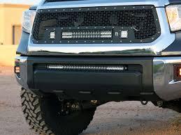 2014 tundra led light bar 2014 2017 toyota tundra lower bumper mount black rigid industries