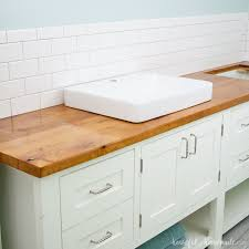 how to clean wood cabinets in bathroom how to build protect a wood vanity top houseful of handmade