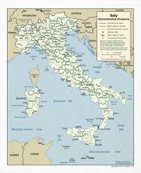 Map Of Italy by Large Scale Administrative Divisions Map Of Italy 2006 Italy