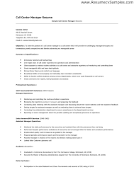 Resume For Call Center Sample by Call Center Profile Resume