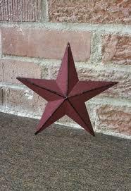country star home decor set of 3 8 inch burgundy tin metal barn stars country barn star