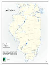 Road Map Of Illinois by Water Resources