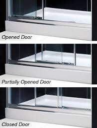 3 Panel Shower Doors Dreamline Showers Illusion Frameless Sliding Shower Door