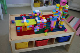 building table with storage childcraft multi purpose play table with building block top