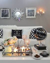 inspired living rooms chanel inspired living room sophisticated and black