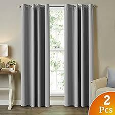 Coral Blackout Curtains Amazon Com 99 Blackout Curtains Energy Efficient Solid 2 Panels
