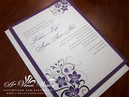 Wedding Cards Invitation Designs Purple And Silver Wedding Invitations Plumegiant Com