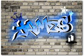 graffiti boys bedroom boys bedroom canvas wall art prints any name as graffiti art