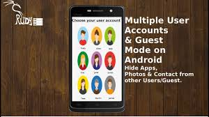 android user how to create user accounts guest mode on android hide