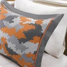 Orange Comforter Lance Orange Comforter Set Full Queen Camo