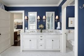 Blue And Gray Bathroom Ideas - navy blue bathroom ideas navy bathroom paint colors tsc